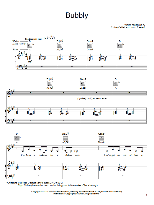 Bubbly Sheet Music
