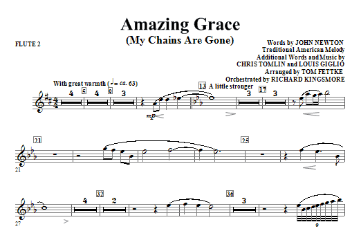 Amazing Grace (My Chains Are Gone) - Flute 2 Sheet Music