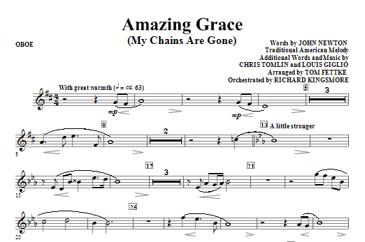 Amazing Grace (My Chains Are Gone) - Oboe (Choir Instrumental Pak)