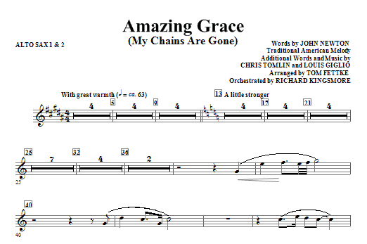 Mandolin amazing grace mandolin chords : Amazing Grace (My Chains Are Gone) - Alto Sax 1,2 | Sheet Music Direct