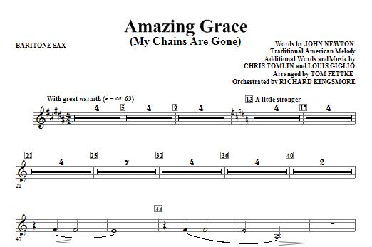 Amazing Grace (My Chains Are Gone) - Baritone Sax (Choir Instrumental Pak)