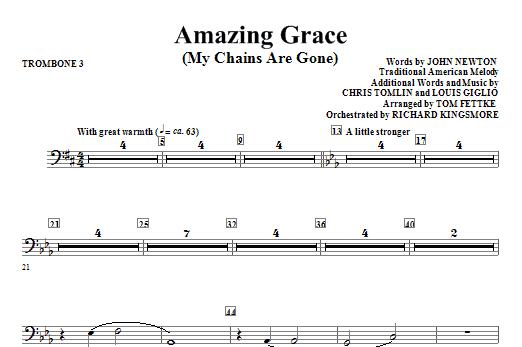 Amazing Grace (My Chains Are Gone) - Trombone 3 (Choir Instrumental Pak)