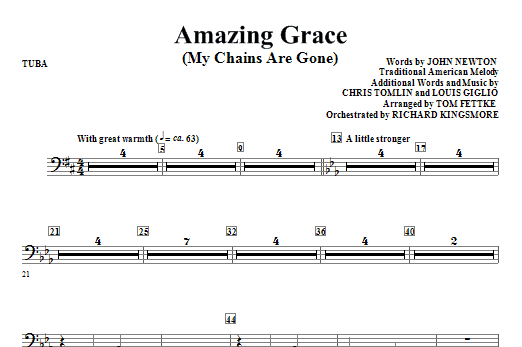 Amazing Grace (My Chains Are Gone) - Tuba Sheet Music