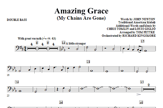 Amazing Grace (My Chains Are Gone) - Double Bass (Choir Instrumental Pak)