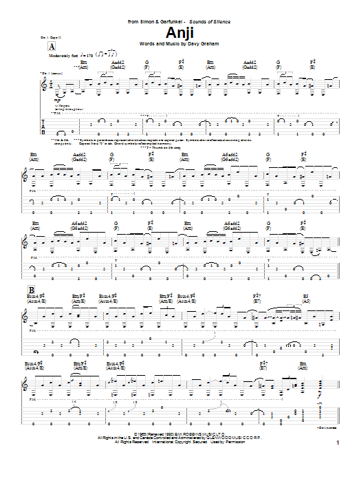 Anji Sheet Music