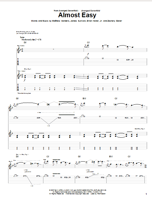 Almost Easy Sheet Music