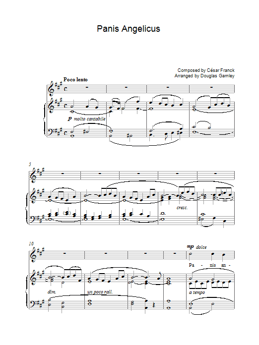 Panis Angelicus (Piano, Vocal & Guitar)