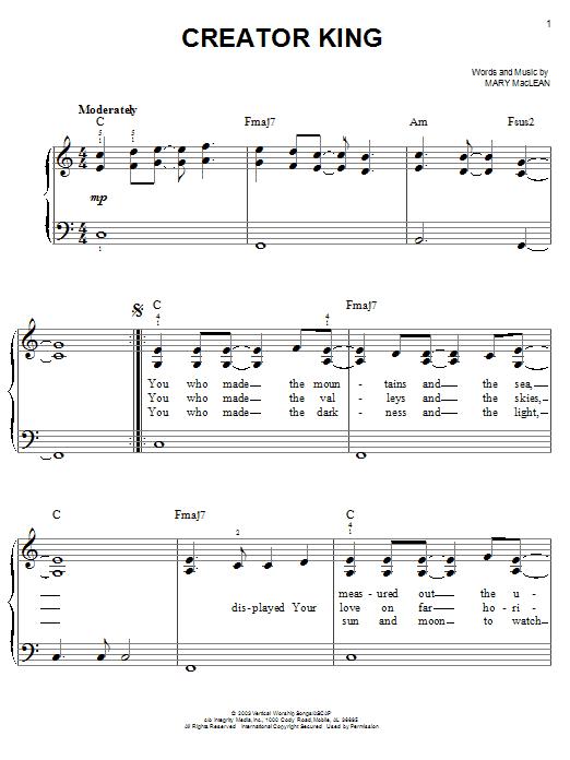 Creator King (Easy Piano)