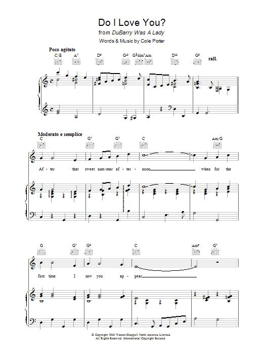 Do I Love You? (Piano, Vocal & Guitar)