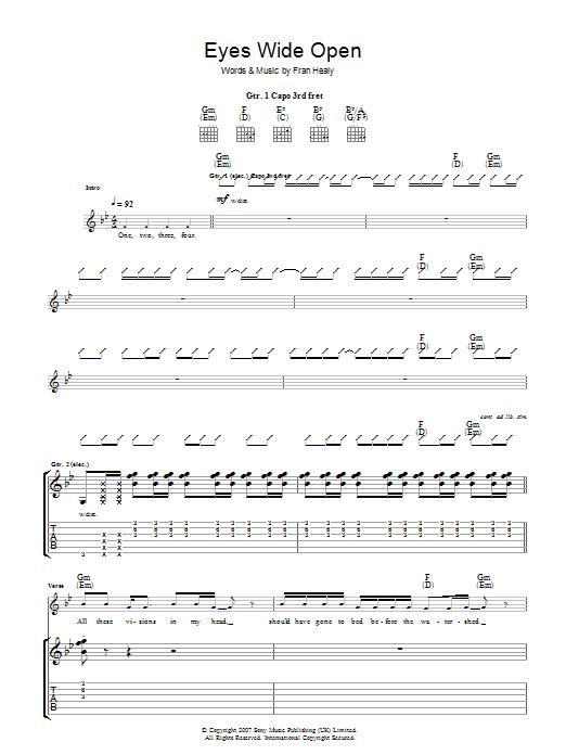 Eyes Wide Open (Guitar Tab)