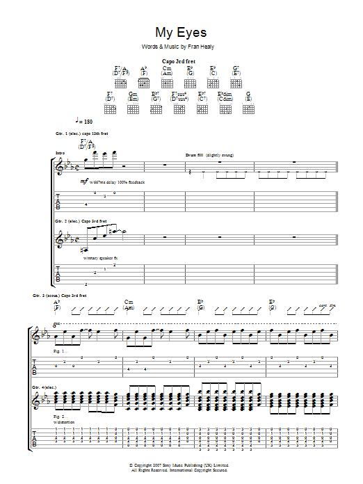 My Eyes (Guitar Tab)