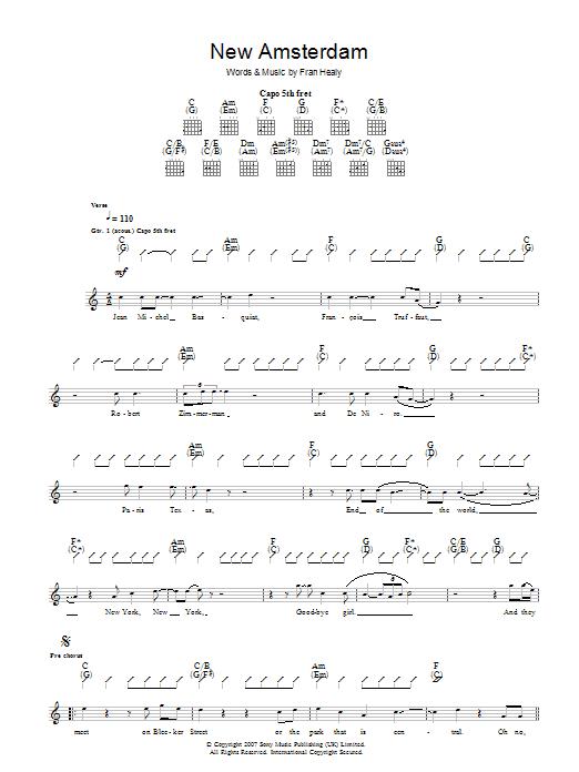 New Amsterdam (Guitar Tab)