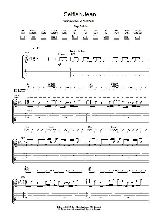 Selfish Jean (Guitar Tab)