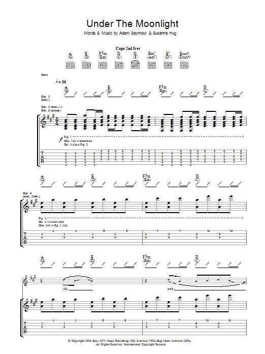 Under The Moonlight (Guitar Tab)