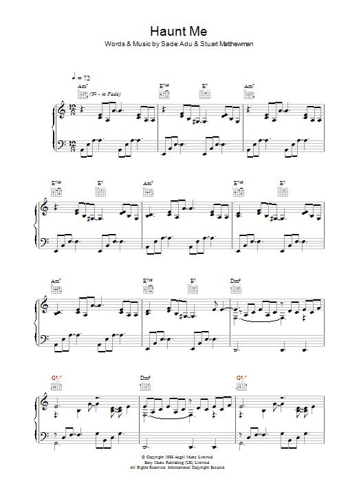 Haunt Me (Piano, Vocal & Guitar)