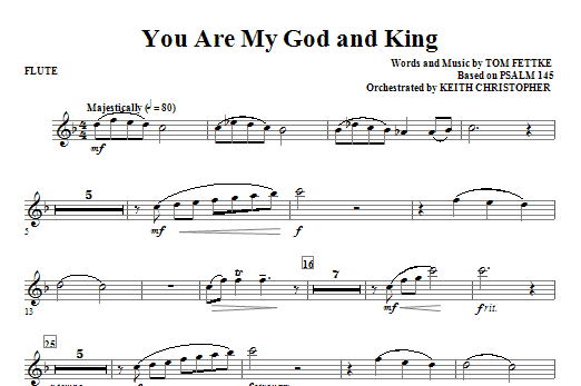 You Are My God And King - Flute Sheet Music