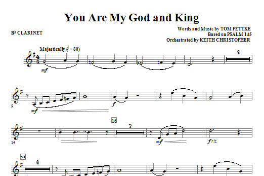 You Are My God And King - Bb Clarinet Sheet Music