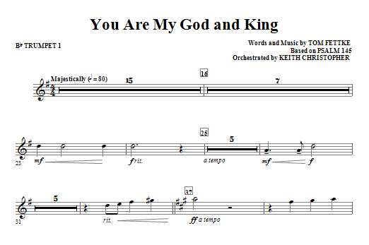 You Are My God And King - Bb Trumpet 1 Sheet Music
