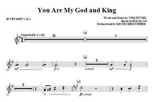 You Are My God And King - Bb Trumpet 2,3 Sheet Music