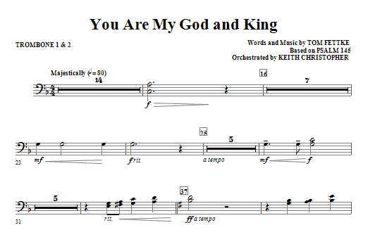 You Are My God And King - Trombone 1 & 2 Sheet Music
