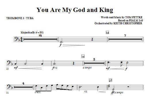 You Are My God And King - Trombone 3/Tuba Sheet Music