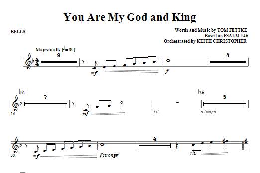 You Are My God And King - Bells Sheet Music