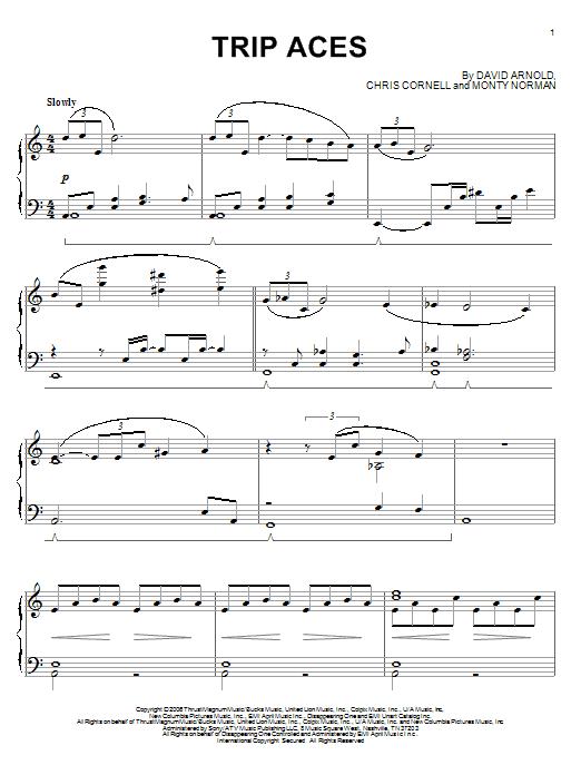 Partition piano Trip Aces de David Arnold - Piano Solo
