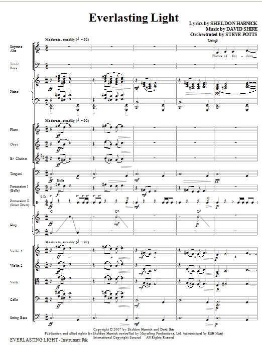 Everlasting Light - Score Sheet Music
