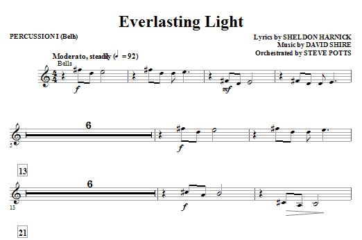 Everlasting Light - Percussion 1 Sheet Music