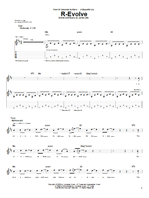 R-Evolve Sheet Music