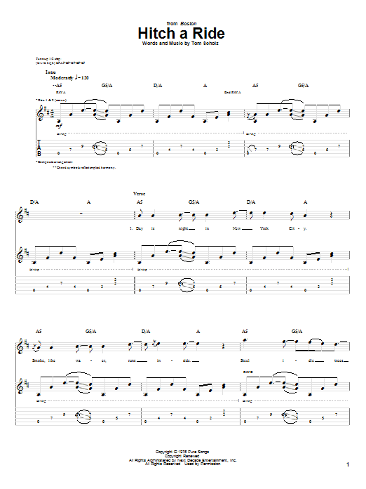 Hitch A Ride Sheet Music