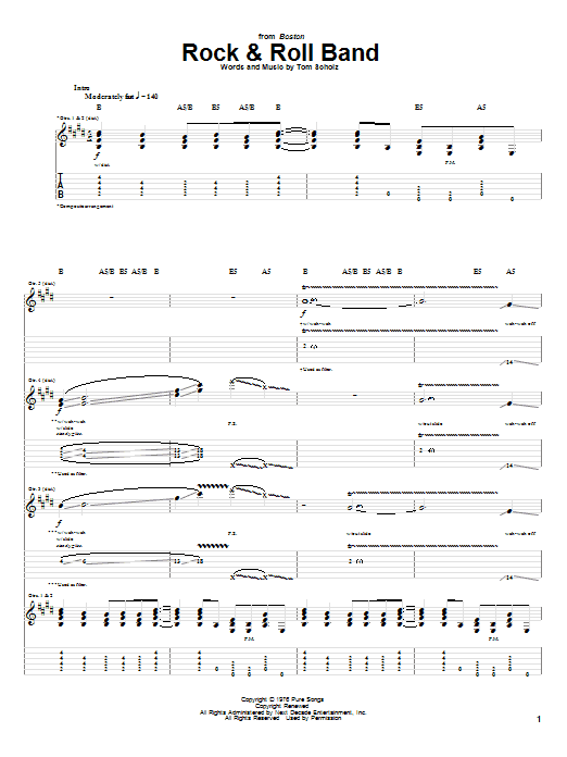 Rock & Roll Band Sheet Music
