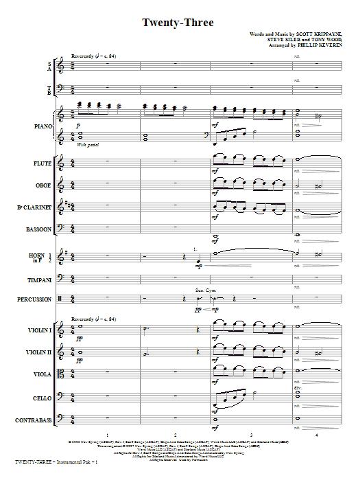 Twenty-Three - Full Score Sheet Music