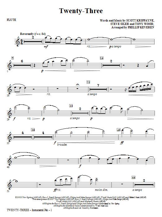 Twenty-Three - Flute Sheet Music