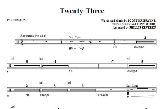 Twenty-Three - Percussion Sheet Music