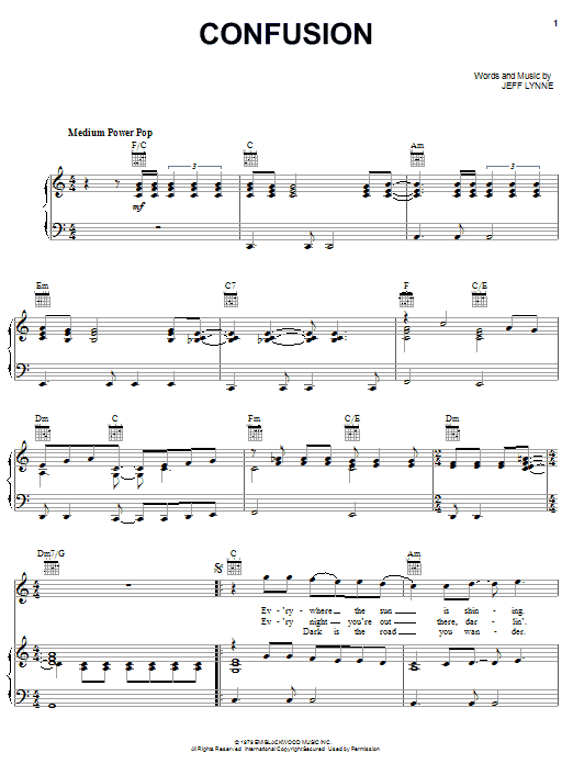 Confusion Sheet Music
