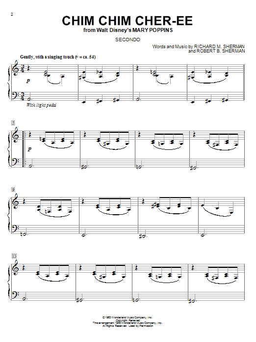 mary poppins piano score pdf