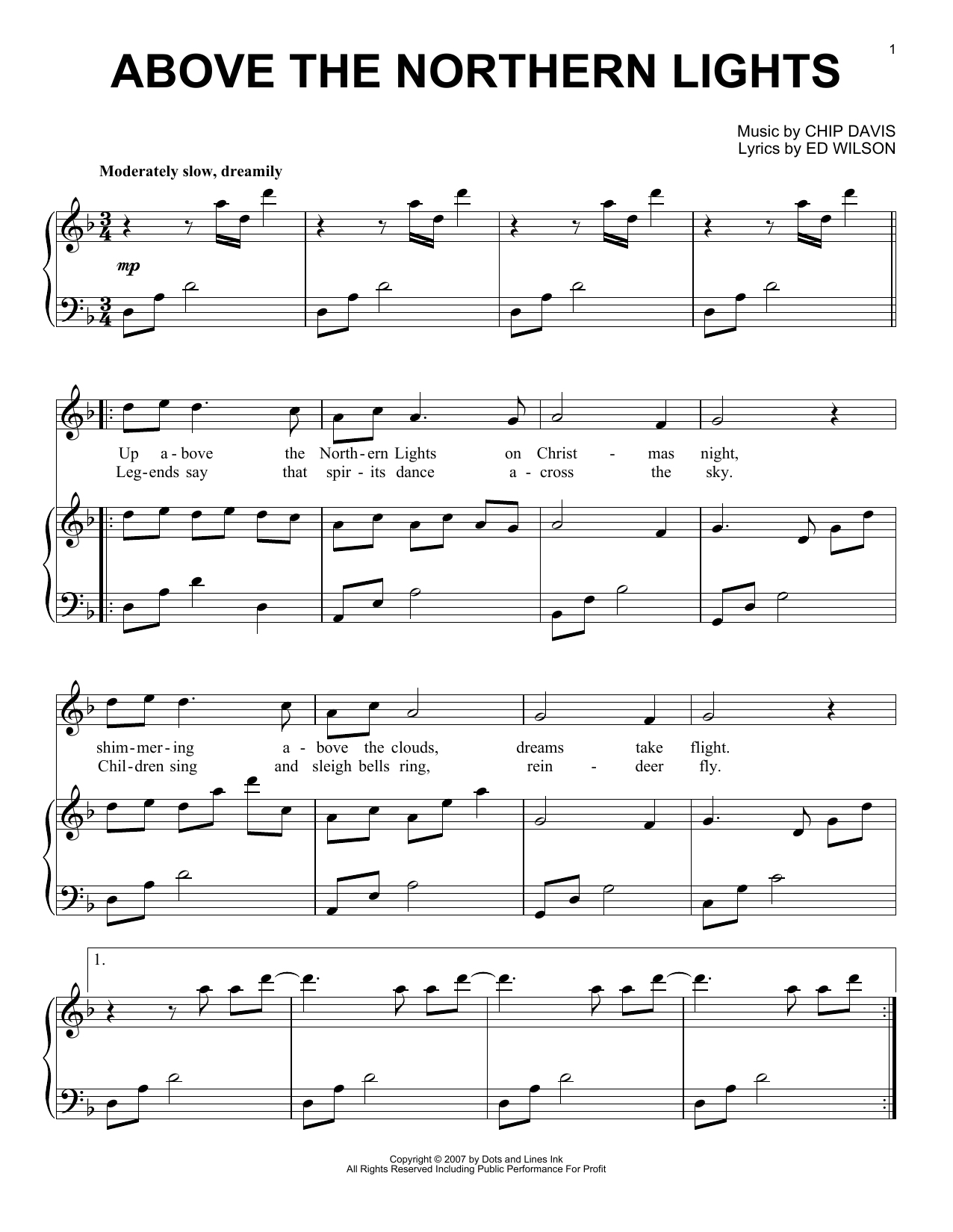 Above The Northern Lights Sheet Music