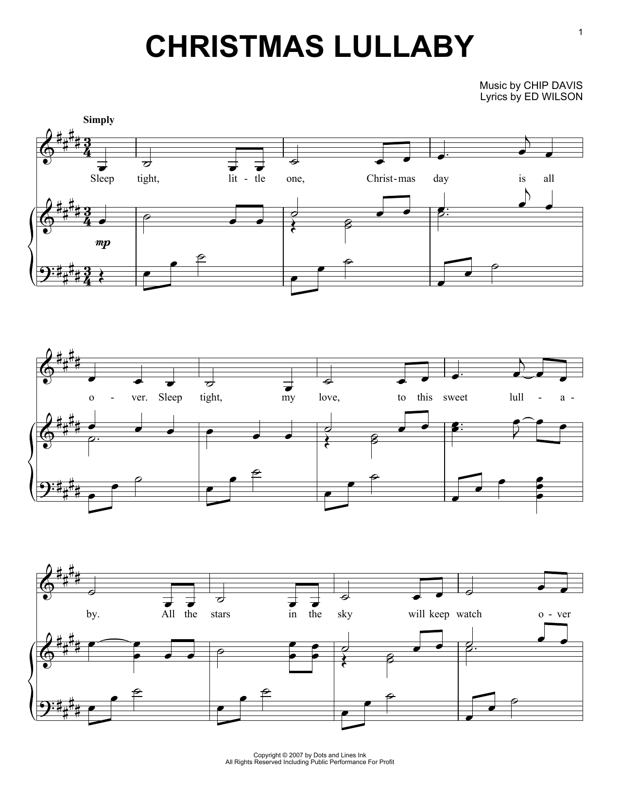 Christmas Lullaby (Piano Solo)