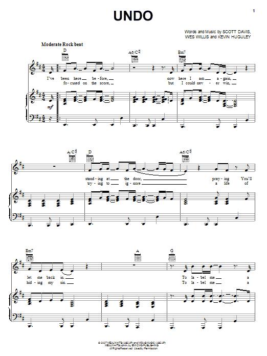 Undo (Piano, Vocal & Guitar (Right-Hand Melody))
