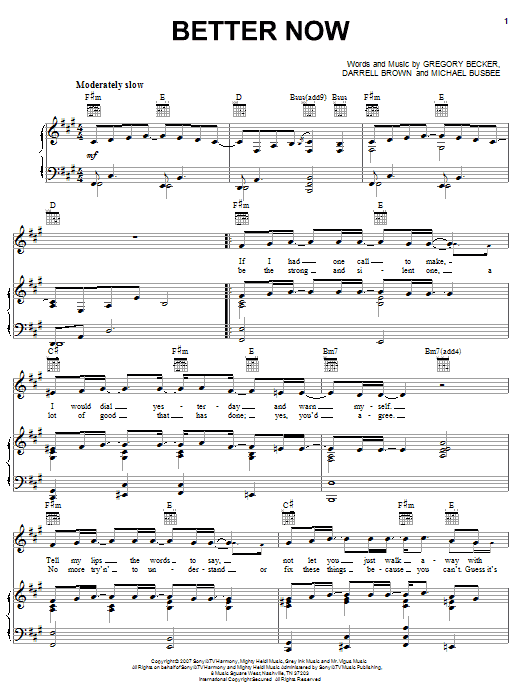Better Now Sheet Music