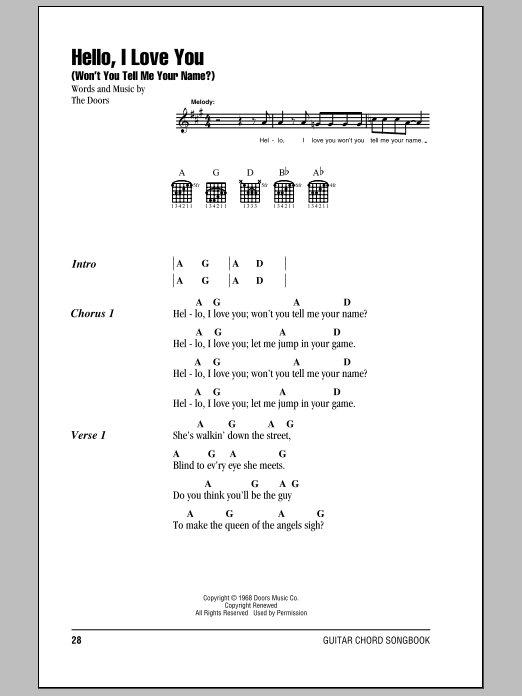 Strange Days By The Doors Hal Leonard Prima Music