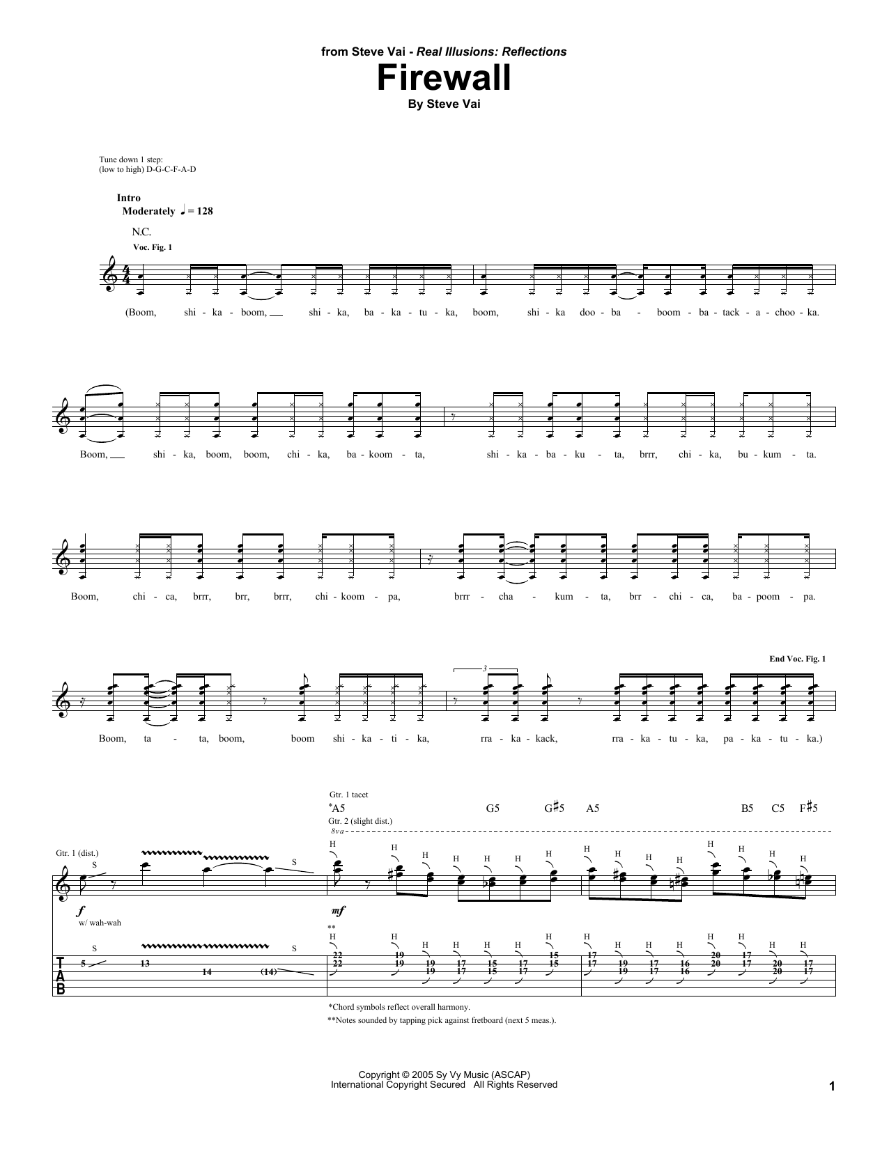 Firewall Sheet Music