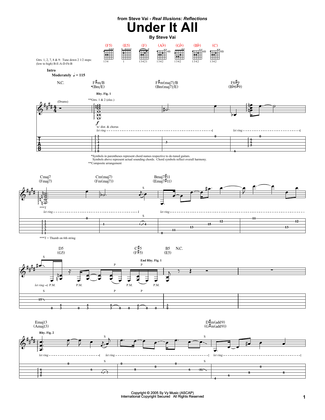 Under It All Sheet Music