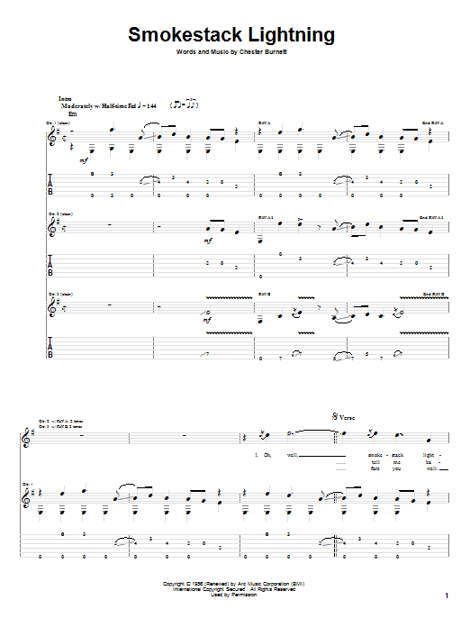 Smokestack Lightning Sheet Music