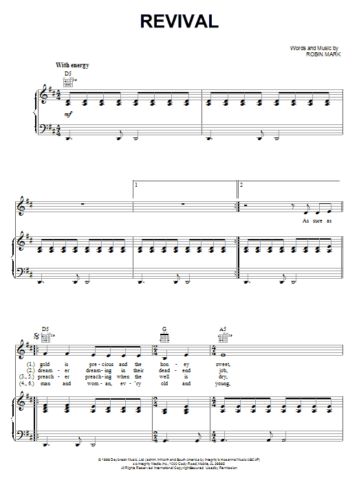 Revival (Piano, Vocal & Guitar (Right-Hand Melody))