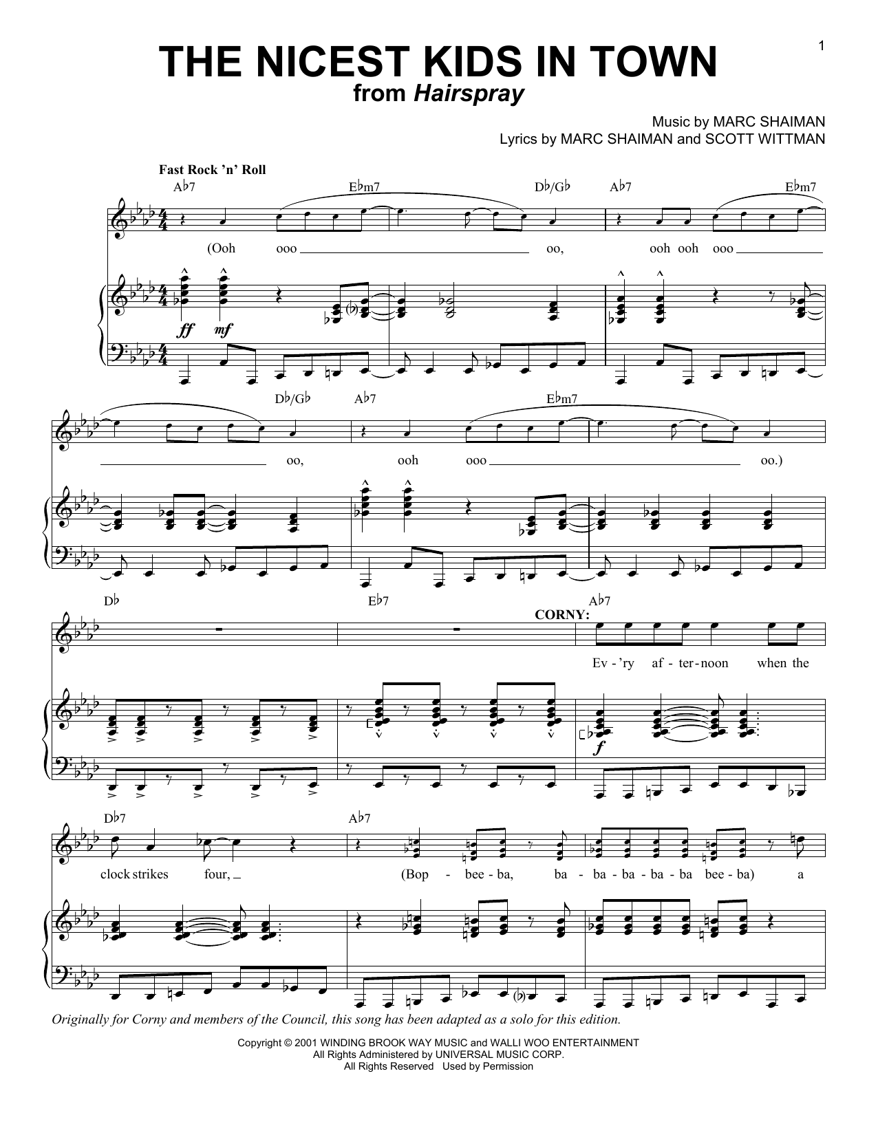 The Nicest Kids In Town Sheet Music
