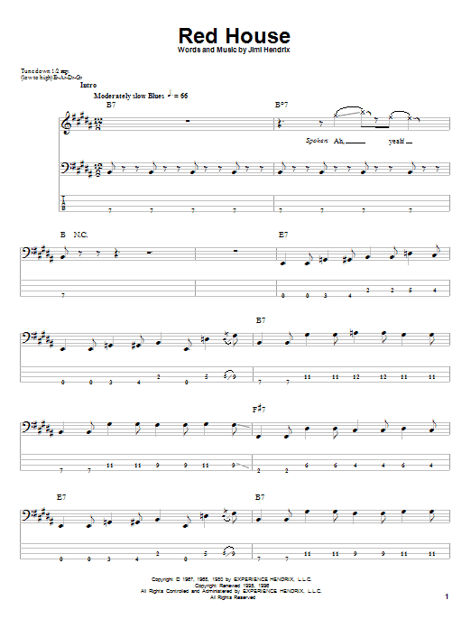 Red House | Sheet Music Direct