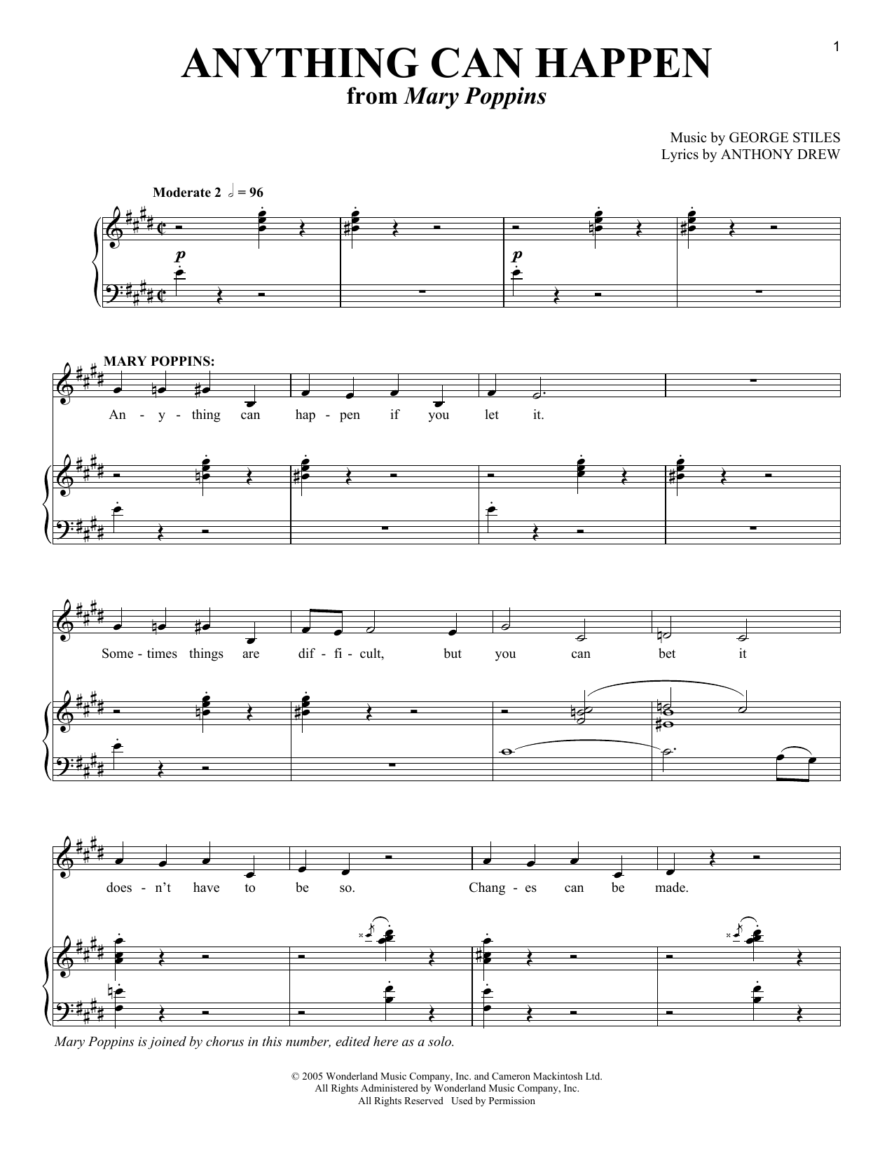 Anything Can Happen Sheet Music