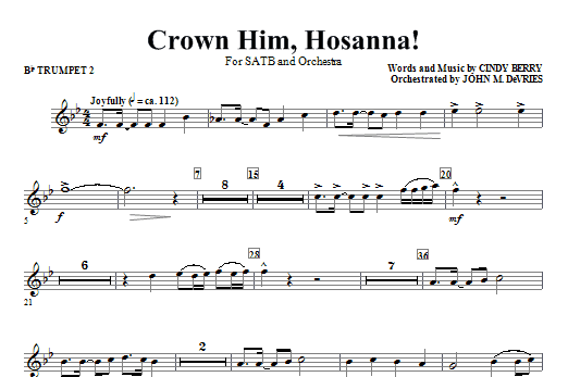 Crown Him Hosanna - Bb Trumpet 2 Sheet Music
